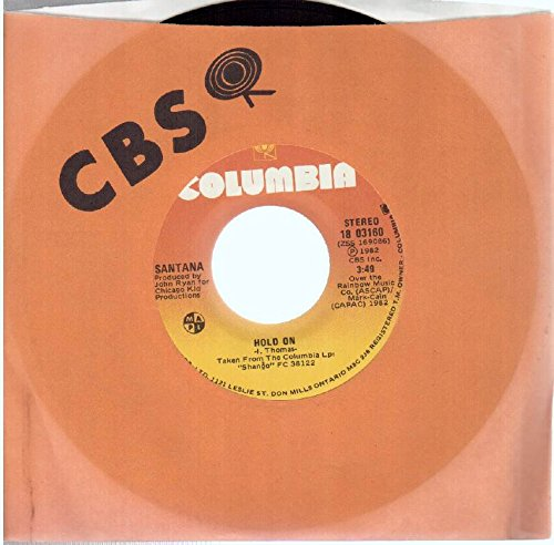 "Santana: Hold On / Oxum (Oshun) 7"" 45 VG++ Canada Columbia 18 03160"