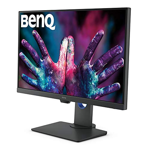 51Z6XjJBKmL BenQ 27-inch DesignVue Designer IPS Monitor, 4K UHD 2160p, 100% sRGB, HDR10, AQCOLOR Technology, Darkroom, Animation, CAD/CAM Mode, Dualview Function, KVM Switch, Built-in Speakers - PD2700U (Gray)