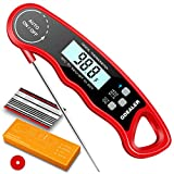 GDEALER DT09 Waterproof Digital Instant Read Meat Thermometer with 4.6' Folding Probe Calibration Function for Cooking Food Candy, BBQ Grill, Smokers