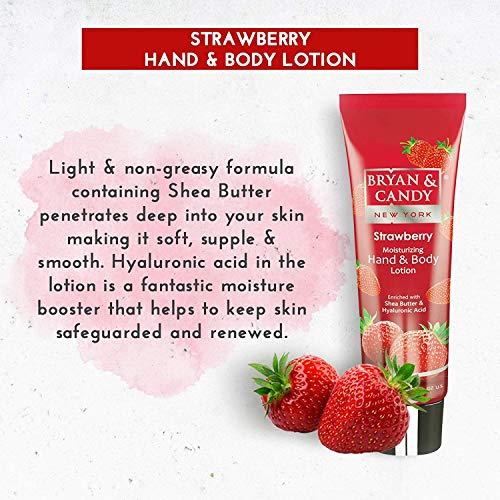 51Z77bQ%2B5kL Bryan & Candy New York Strawberry Bath Tub Kit for Complete Home Spa Experience (Shower Gel, Hand & Body Lotion, Sugar Scrub, Body Polish)