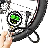 CycloSpirit Digital Universal Bicycle Tire Inflator Gauge with Auto-Select Valve Type - Presta and Schrader Air Compressor Tool