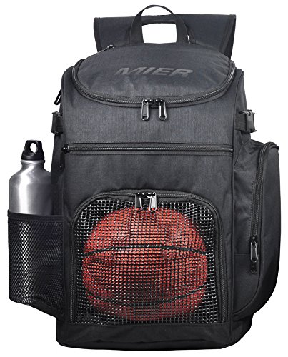 MIER Basketball Backpack Large Sports Bag for Men Women with Laptop  Compartment a77f58667bad5