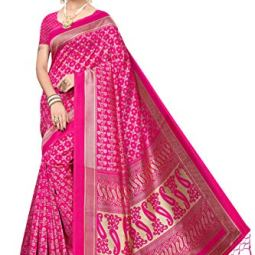ANNI Women's Mysore Silk Saree With Un-stitched Blouse