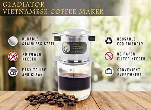 Vietnamese Coffee Maker Filter Set French Press Style Coffee Filters Pour Over Coffee Dripper Portable Coffee Kusina Ni Boyeng