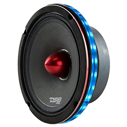 DS18 LRING6 SPEAKER GRILL RING - Fits 6.5' Speaker, RGB LED Lighting, Acrylic Ring, Marine Watertight Seal, Compatible with RGB Remote Module - One Ring