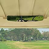 [Newest] Golf Cart Rear View Mirror Without Vibration & Fall Off, Moveland 15' Wide Panoramic Mirror for EzGo, Yamaha, Club Car