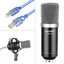 Neewer-USB-Microphone-for-Windows-and-Mac-with-Suspension-Scissor-Arm-Stand-Shock-Mount-Pop-Filter-USB-Cable-and-Table-Mounting-Clamp-Kit-for-Broadcasting-and-Sound-Recording-Black