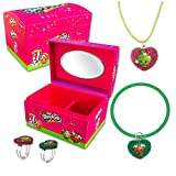 WayBack Shopkins Charm Necklace Bracelet Ring and Jewelry Box Set