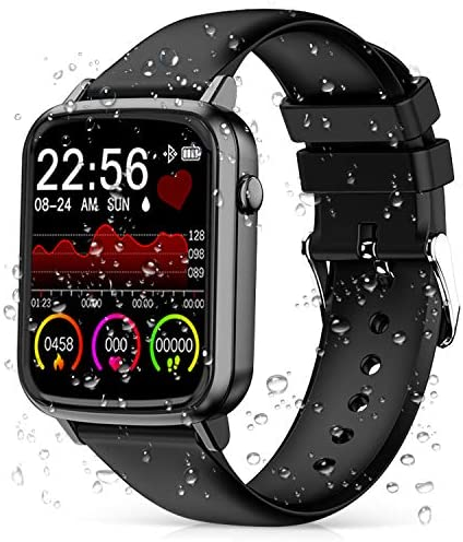 2020 CEGAR Fitness Tracker, Smart Watch with Heart Rate, Ip68 Waterproof Bluetooth Smartwatch for Android iOS Phone, Sleep Tracking Calorie Counter,Pedometer for Women Men (Black) 3