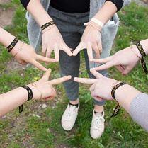 WENTS-JGA-Ensemble-de-Bracelets-Bracelets-de-marie-avec-Effet-Scintillant-pour-Enterrement-de-Vie-de-Jeune-Fille-Mariage
