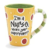Nurse 12 Oz Coffee Mug/cup with'I'm A Nurse' What's Your Super Power?' Great Gift For Nurses