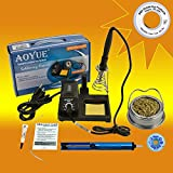 Aoyue 469 Kit includes 60 Watt Soldering Station, Solder Wire, Flux, Fast Chip Removal Alloy, Tip Cleaner, Desoldering Pump and Solder Wick