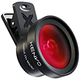 Xenvo Pro Lens Kit for iPhone and Android, Macro and Wide Angle Lens with LED Light and Travel Case