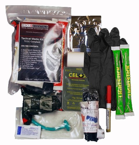 First Aid: Tactical Medic Kit - TCCC Compliant by Rescue Essentials by Rescue Essentials