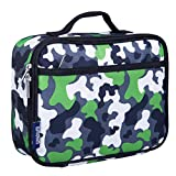 Lunch Box, Wildkin Lunch Box, Insulated, Moisture Resistant, and Easy to Clean with Helpful Extras for Quick and Simple Organization, Ages 3+, Perfect for Kids or On-The-Go Parents – Green Camo