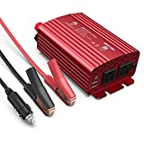 BESTEK 500W Power Inverter DC 12V to 110V AC Converter with 4.8A Dual USB Car Charger ETL Listed