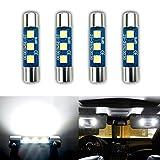 iBrightstar Newest 9-30V Extremely Bright 29mm 6614F 6612F for Car Sun Interior Vanity Mirror Sun Visor Lights, Xenon White