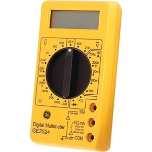 GE 50953 Digital Multimeter 17-Range 6-Function Non-Recording Yellow Tools , Hand Tools