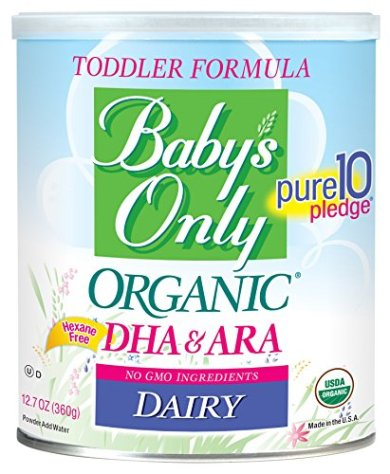 Baby's Only Toddler Formula, Dairy with DHA & ARA, 12.7 Ounce (Pack of 6)