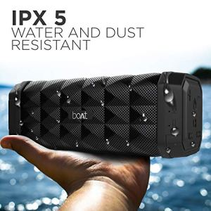 boAt Stone 650 Portable Wireless Speaker with 10W Stereo Sound, Powerful Bass, IPX5 Water & Splash Resistance, Multiple Connectivity Modes and Up to 7H Playback (Black)