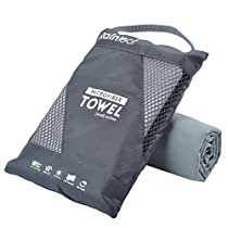 Microfiber Towel by Rainleaf. Perfect Sports & Travel &Beach Towel. Fast Drying - Super Absorbent - Ultra Compact. Suitable for Camping, Gym, Beach, Swimming, Backpacking.