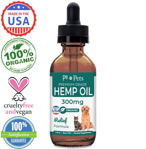 Hemp-Oil-for-Dogs-and-Cats-300mg-Organically-Grown-Made-in-USA-Pet-Relief-Formula-Relieves-Anxiety-Supports-Hip-Joint-Health-Naturally-Relieves-Pain-Herbal-Supplement