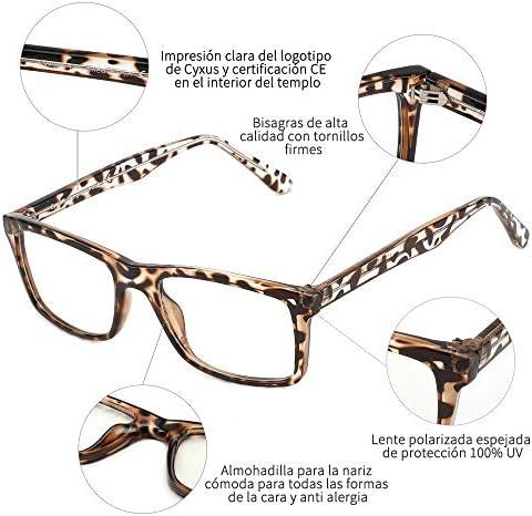 51ZUDqeXW3L. AC  - Cyxus Filtro de Luz Azul Gafas de Computadora Anti Fatiga de Ojos Lentes Transparentes para Hombres y Mujeres Bloqueo UV #Amazon