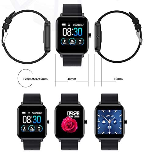 Smart Watch for Android and iOS Phones, AOKEY Fitness Tracker Watch for Men Women, Heart Rate and Sleep Monitor, Pedometer, IP68 Waterproof Activity Tracker (Black) 3