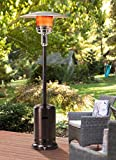 Sunjoy Lawrence Floor-Standing Patio Heater, 88', Bronze Hammered Finished