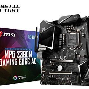 MSI MPG Z390M Gaming Edge AC LGA1151 (Intel 8th and 9th Gen) M.2 USB 3.1 Gen 2 DDR4 HDMI DP Wi-Fi SLI CFX Micro ATX Z390…