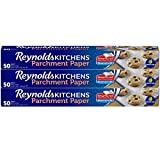 Reynolds Kitchens Parchment Paper Roll with SmartGrid - 3 Boxes of 50 Square Feet (150 Sq. Ft Total)