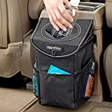 High Road StashAway Console and Headrest Car Trash Can with Lid