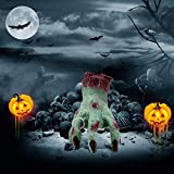 LUKAT Halloween Decoration Hand, Zombie Crawling Cut Off Hand Scary Bloody Crawl Hand Halloween Props Decorations