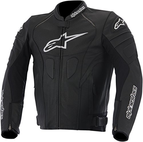 Alpinestars GP Plus R Perforated Leather Men's Riding Jacket (Black/White, Size 52)
