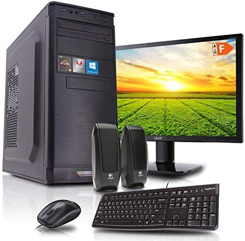 dcl24.de [11828] Office Komplett PC Set Intel i9-9900 8×3.1 GHz – 32GB DDR4, 480GB SSD & 2TB HDD, Intel UHD Grafik 630 1GB, 21,5 Zoll TFT, Maus Tastatur, Windows 10 Pro Büro Computer Desktop Rechner