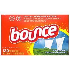 Bounce Fabric Softener Dryer Sheets for Static Control, Outdoor Fresh Scent, 120 Count 51ZbjEy6ZcL