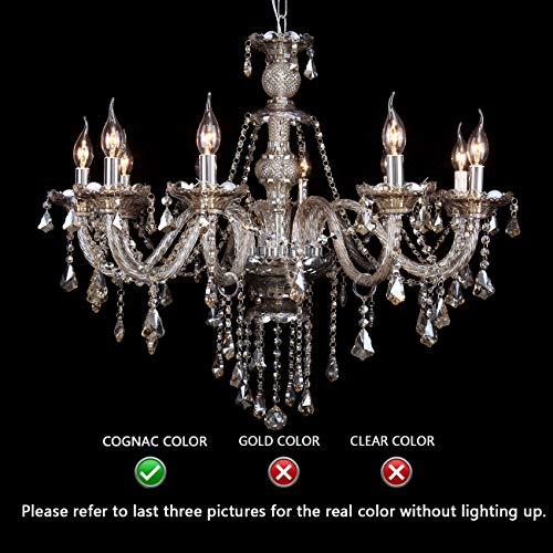 Ridgeyard-256-x-354-Inch-Modern-Luxurious-10-Lights-K9-Crystal-Chandelier-Candle-Pendant-Lamp-Living-Room-Ceiling-Lighting-for-Dining-Bedroom-Hallway-Entry-Cognac-Color