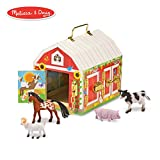 Melissa & Doug Latches Barn Toy (Developmental Toy, Helps Improve Fine Motor Skills, Painted Wood Barn, 10.5'H x 7.5'W x 10' L)