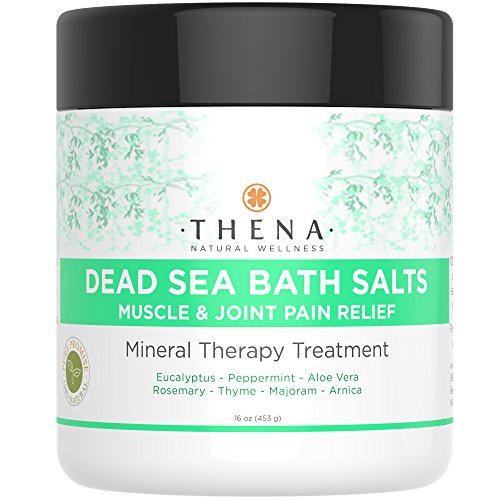 Organic Joint & Muscle Relief Soak, Natural Arthritis Remedies With Arnica & Stress Relieve Essential Oils, Best Spa Bath Sea Salts Product For Relaxation, Soothe Back Neck Shoulder Pain Aches Tension
