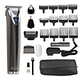 Wahl Stainless Steel Lithium Ion 2.0+ Slate Beard Trimmer for Men - Electric Shaver, Nose Ear...
