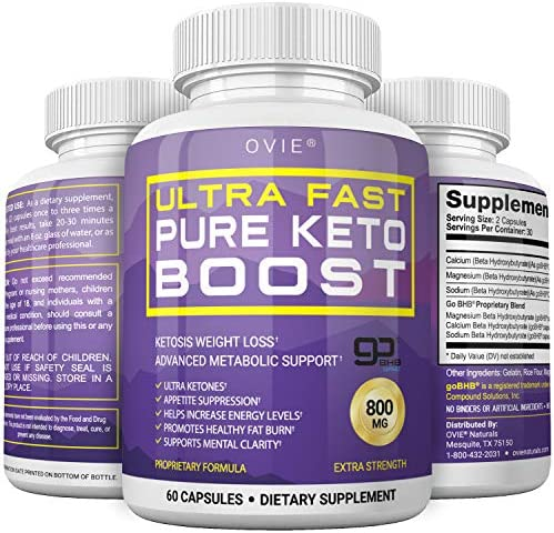 Ultra Fast Keto Boost - Advanced Clinically-researched Patented GoBHB Pure BHB Salts (beta hydroxybutyrate) - 800mg Keto Diet Pills - Best Ketosis Ketogenic Supplement; 60 Capsules; 30 Day Supply 3