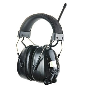 PROTEAR-AM-FM-Radio-Headphones-with-Digital-Display-Radio-Hearing-Protector-Safety-Ear-Muffs-Electronic-Noise-Reduction-Ear-Defender-for-Mowing-Lawn-Working-Black