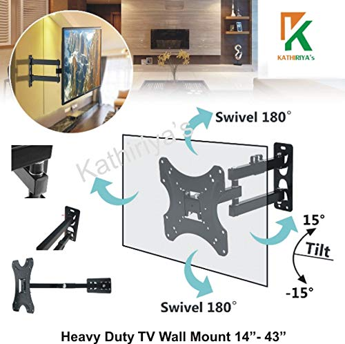 Kathiriyas Kathiriya,s Solid Heavy Metal Wall Mount Stand (Movable) for 17 to 40-inch LCD LED TV with All Screw (Black) 6