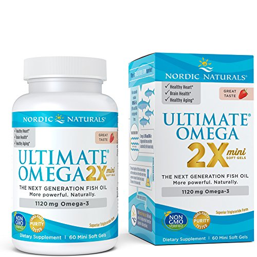 Nordic Naturals - Ultimate Omega Mini, Support for a Healthy Heart, Strawberry, 60 Soft Gels