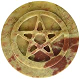Magickal Finds Soapstone Pentacle Altar Tile