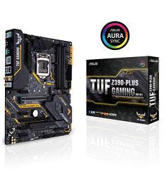 ASUS TUF Z390-Plus Gaming (Wi-Fi) LGA1151 (Intel 8th 9th Gen) DDR4 DP HDMI M.2 Z390 ATX Motherboard 802.11ac Wi-Fi USB 3.1 Gen2