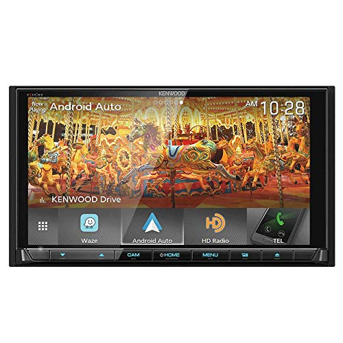 Kenwood eXcelon DNX995S 6.75 Inch DVD Navigation Receiver with CarPlay, Android Auto and Bluetooth