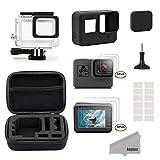Kupton Accessories for GoPro Hero 7/6/ 5/ Hero (2018) Starter Kit Travel Case + Housing Case + Screen Protector + Lens Cover + Silicone Cover for Go Pro Hero7 Hero6 Hero5 Outdoor Sport Kit