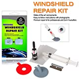 ARISD Car Windshield Repair Kit - Windshield & Glass Repair Tool Set for Half-Moon Cracks or The Combination Cracks