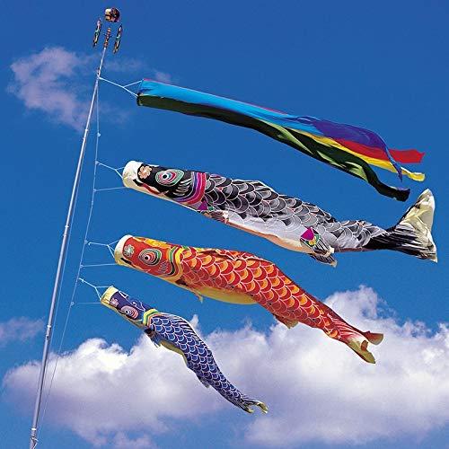 Maslin 100cm Koinobori Japanese Carp Streamer Wind Socks Koi nobori Fish Flags Kite Flag Japanese Koinobori for Children's Day - (Color: Red, Size: 100)